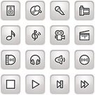 Play,Interface Icons,Symbol,Computer Icon,White,Record,Sound,Icon Set,Audio Equipment,Information Medium,Headphones,Stop,Movie,Connection,Black Color,Microphone,CD,Treble Clef,Internet,Camera - Photographic Equipment,DVD,Photograph,Contour Drawing,Music,Disk,Gray,Control,Web Page,Vector Icons,Sign,Business Symbols/Metaphors,Illustrations And Vector Art,Vector,www,Arts And Entertainment,Arts Symbols,Business,Speaker,Design,Home Video Camera,Musical Note