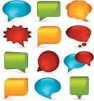 Bubble,Speech Bubble,Thought Bubble,Shiny,Vector,Icon Set,Computer Graphic,Multi Colored,Set,Copy Space,Blank,Illustrations And Vector Art