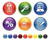 Real Estate,Interface Icons,Internet,Symbol,House,For Sale,Giving,Selling,Sale,Icon Set,Computer Icon,Red,Human Hand,Sold,Searching,Circle,Construction Industry,Digitally Generated Image,Laptop,Holding,Green Color,Sign,Blue,Yellow,Vector,No People,Built Structure,Ilustration,Design,Magnifying Glass,Black Color,Isolated On White,Empty,Round Button,Modern,Orange Color,White Background