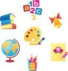 Toy Block,Crayon,Symbol,Education,Number,Book,Back to School,Pencil,Desktop Globe,School Supplies,Bell,Equipment,Set,Conceptual Symbol,Palette,Vector Icons,Education,Isolated-Background Objects,Industry,Globe - Man Made Object,Vector,Paintbrush,Illustrations And Vector Art,Isolated Objects