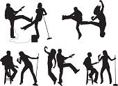 Musician,Silhouette,Singer,Music,Vector,Dancing,Singing,Jumping,Couple,Women,Guitarist,Guitar,Microphone Stand,Female,Microphone,Popular Music Concert,Karaoke,Playing,Musical Instrument,Rock and Roll,Outline,White Background,Entertainment,Togetherness,Black Color,Men,Skill,Male,Clip Art,Performance,Stool,Standing,High Heels,Holding,Nightlife,Multiple Image,Ilustration,Youth Culture,Vector Graphics,Hobbies,Isolated On White,Digitally Generated Image,Black And White,Mid-Air,Computer Graphic,String Instrument,Playful,Sitting,rocking out,Excitement