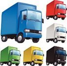 Delivery Van,Delivering,Light Goods Vehicle,Symbol,Transportation,Computer Icon,Vector,Freight Transportation,Red,Blue,Yellow,Trucking,Mode of Transport,Ilustration,Land Vehicle,White,Black Color,Green Color,Driving,Commercial Land Vehicle,Semi-Truck