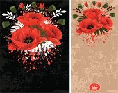Flower,Floral Pattern,Poppy,Pattern,Black Color,Backgrounds,Retro Revival,Design,Drawing - Art Product,Frame,Red,Vector,Painted Image,Wildflower,Ilustration,Beige,Color Image,Beauty In Nature,Nature,Flowers,Nature,Grunge,Vibrant Color,Arts And Entertainment,Decoration,Illustrations And Vector Art,Arts Backgrounds,Springtime,Summer,Seed,Plant,Leaf