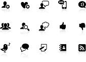 Symbol,Computer Icon,Icon Set,Social Issues,Social Gathering,Friendship,Internet,Black Color,The Media,Communication,Information Medium,Discussion,Thumbs Up,Community,Group Of People,Sparse,Simplicity,Connection,Telephone,Mobile Phone,Technology,Heart Shape,Text Messaging,Searching,Interface Icons,Smart Phone,Vector,Happiness,Social Networking,Design,Blog,Writing,Bird,Computer Graphic,Speech Bubble,Modern,Ring Binder,Thought Bubble,Thumbs Down,Address Book,Wireless Technology,Ilustration,Correspondence,Design Element,White Background,Clip Art,new media