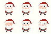 Santa Claus,Christmas,Sadness,Cartoon,Human Face,Symbol,Computer Icon,Displeased,Interface Icons,Characters,Icon Set,Tired,Blinking,Facial Expression,Drawing - Art Product,Set,Furious,Collection,Cute,Ilustration,Design Element,Vector,Cross-Eyed,Winking,Computer Graphic,Beard,Sleeping,Anger,Crying,Contrasts,Tear,Emotion