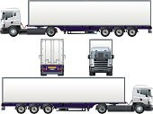 Truck,Semi-Truck,Vehicle Trailer,Rear View,Side View,Vector,White,Front View,Cargo Container,Isolated,Land Vehicle,Large,Transportation,Ilustration,Mode of Transport,Freight Transportation,Tire,Profile View,USA,Trucking,Shipping,Wheel,Commercial Land Vehicle,Delivering,Computer Graphic,Illustrations And Vector Art,Isolated Objects,Transportation,Isolated-Background Objects,Image