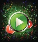 Play,Push Button,Interface Icons,Music,Musical Note,Green Color,Backgrounds,Red,Exploding,Stop,Environmental Conservation,Vector,Multi Colored,Orange Color,Star Shape,Resting,Projection,Grunge,Illustrations And Vector Art,Parties,Music,Holidays And Celebrations,Arts And Entertainment,Vector Backgrounds