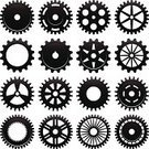 Gear,Bicycle Gear,Wheel,Clock,Symbol,Machine Part,Machinery,Engine,Vector,Engineering,Equipment,Vehicle Part,Industry,Construction Machinery,Metal,Circle,Small,Steel,Large,Modern,Manufacturing Equipment,Group of Objects,Design,Concepts,Set,Collection,Industry,Manufacturing,Industrial Objects/Equipment,Objects/Equipment,Solid,Illustrations And Vector Art,Vector Icons