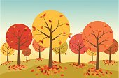 Autumn,Tree,Leaf,Landscape,Vector,Retro Revival,Season,Forest,Backgrounds,Fun,Scenics,Ilustration,Non-Urban Scene,Nature,October,Modern,Orange Color,Color Image,In A Row,Gold Colored,Multi Colored,Green Color,Branch,Bare Tree,Hill,September,foliagé,Outdoors,Clip Art,Deciduous Tree,Red,Heap,No People,Horizontal,fall season,harvest time,Beauty In Nature,leaf pile,November,Rural Scene