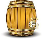 Barrel,Beer - Alcohol,Keg,Wood - Material,Oktoberfest,Tun,Wine,Vector,Vat,Drink,Drinking,Fermenting,Oak,Faucet,Alcohol,Computer Graphic,Single Object,Illustrations And Vector Art,Standing,Drinks,Isolated Objects,Food And Drink,Ilustration,Metal,Plank,Isolated,Painted Image,Isolated On White,Brown,No People