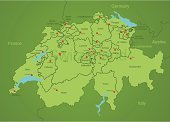 Switzerland,Map,Cartography,Austria,Germany,France,Zurich,Guangzhou,Vector,Italy,Valais Canton,Non-Urban Scene,glarus,Graubunden Canton,St Gallen Canton,Aargau Canton,Geneva,Ticino Canton,Appenzellerland Canton,Cantons,Solothurn,Jura Canton,Schwyz,Vaud Canton,Uri Canton,Basel,Schaffhausen,Lucerne,Neuchatel,Ilustration,Land,Sea,Travel Locations,Travel Backgrounds,Illustrations And Vector Art,Nidwalden,Transportation,Vector Backgrounds,Thurgau,Water,Capital Cities,Clip Art,countries,Berne,Computer Graphic,obwalden