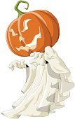 Ghost,Halloween,Vector,Cartoon,Pumpkin,White,Spooky,Horror,Ilustration,Vector Cartoons,Flying,Objects with Clipping Paths,Isolated Objects,Illustrations And Vector Art,Sheet,Isolated On White,Holidays And Celebrations,Halloween,Isolated,specter,Shock,Image,Fun