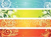 Banner,Beauty,Season,Placard,Flower,Symbol,Springtime,Summer,Backgrounds,Floral Pattern,Abstract,Swirl,Autumn,Orange Color,Beauty In Nature,Blue,Frame,Green Color,Pattern,Striped,Scroll Shape,Sign,Horizontal,In A Row,Vector,Modern,Art,Leaf,Ornate,Color Gradient,Design,Branch,Decoration,Outline,Vector Ornaments,Ilustration,Shape,Vector Florals,Nature,Image,Silhouette,Illustrations And Vector Art