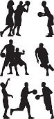 Basketball Player,Basketball,Sport,Silhouette,Basketball - Sport,Agility,Athlete,Defending,Multiple Image,Playing,Competitive Sport,crossover,Aiming,Outline,Dribbling,One On One,Professional Sport,Ilustration,Isolated On White,Ball,Vector Graphics,Competition,Computer Graphic,Shooting,Running,Shooting at Goal,Holding,Vector,Making a Basket,Men,Digitally Generated Image,Clip Art,White Background,Follow Through,Black And White,Street Ball,Black Color,Action,Scoring,Male