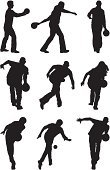Bowling,Silhouette,Ten Pin Bowling,Sport,Throwing,Men,Female,Vector,Multiple Image,Bowling Ball,Bending,Action,Computer Graphic,Follow Through,Rolling,Side View,Clip Art,Concentration,Isolated,Holding,Preparation,Male,Black And White,Playful,Digitally Generated Image,Rear View,Expertise,Playing,Posture,White Background,Isolated On White,Balance,Accuracy,Leisure Games,Ilustration,Enjoyment,Black Color,Outline,Motion,Aiming,Skill,Effort,Leisure Activity,Recreational Pursuit,Vector Graphics