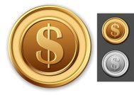 Coin,Gold Colored,Gold,Currency,Silver - Metal,Silver Colored,Symbol,Dollar Sign,Wealth,Medallion,Circle,US Coin,Insignia,Sign,$,Metal,Copper,Metallic,Finance,Shiny,Incentive,Currency Symbol,Ideas,Isolated,Concepts,Investment,Vector,Change,Luck,Savings,Business,Paying,Stock Exchange,USA,Success,Religious Icon,Banking,Yellow,monetary,Bank Account,gold coins,Illustrations And Vector Art,Design Element,Stock Market,Treasure,Black Background,No People,Vector Icons,Isolated On White,White Background