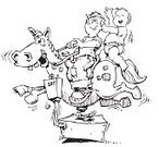Pony,Horse,Fun,Child,Drawing - Art Product,Offspring,Ilustration,Amusement Park Ride,Brother,Baby,Riding,Lifestyle,People,Babies And Children,Illustrations And Vector Art,15-18 Months,Toddler,Little Boys,Pencil Drawing,Mechanical Horse