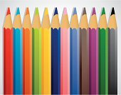 Pencil,Red,Black Color,Illustrations And Vector Art,Blue,Pink Color,Drawing - Activity,Yellow,Green Color