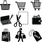 Shopping Cart,Shopping,Symbol,Computer Icon,Coupon,Sale,Icon Set,Wallet,Shopping Bag,Vector,Shopping Basket,Retail,Customer,Scissors,Price Tag,Set,Full,Stencil,Check - Financial Item,Black And White,Clip Art,Carrying,Empty,Men,Ilustration,Commercial Activity,Label,Cut Coupon,Series,Design Element,Shopping Icons,Shopping Icon,Icon Series,Illustrations And Vector Art,People,Vector Icons,Hang Tag