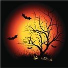 Halloween,Bat - Animal,Pumpkin,Tree,Backgrounds,Night,Silhouette,jack-o-lantern,Bare Tree,Cartoon,Human Face,Fear,Bird,Art,Autumn,Image,Dark,Celebration,Lantern,Black Color,Holiday,Ilustration,Glowing,Illuminated,Branch,Painted Image,October,Grass,Orange Color,Season,Nature,Yellow,Halloween,Holidays And Celebrations,Landscapes,Holiday Backgrounds,Smiling