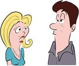 Women,Talking,Men,Cartoon,Ignoring,Ignorance,Couple,Discussion,Arguing,Wife,Husband,Worried,Listening,Boredom,People,Lifestyle,Relationships,Vector Cartoons,Illustrations And Vector Art,Necklace,Vector,Ilustration,Heterosexual Couple,marital