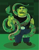 Snake,Illustrations And Vector Art,stocky,Standing,Male,Completely Bald