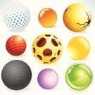 Three-dimensional Shape,Ball,Sphere,Globe - Man Made Object,Sign,Glass - Material,Planet - Space,Symbol,Shiny,Interface Icons,Bubble,Vector,Molecule,Abstract,Yellow,Computer Graphic,Shape,Design Element,Design,Circle,Digitally Generated Image,Textured,Surface Level,Illustrations And Vector Art,Isolated Objects,Concepts And Ideas,Color Gradient,Textured Effect,Decoration,Spherule