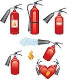 Fire Extinguisher,Fire - Natural Phenomenon,Safety,Fire Hose,Equipment,Vector,Emergency Sign,Security,Security System,Extinguishing,Heart Shape,Spray,Spraying,Foam,Burning,Desire,Passion,Love,Flame,Danger,Isolated,Warning Sign,Work Tool,Isolated On White,White,Illustrations And Vector Art,Covering,Heat - Temperature,Inferno,Protection,Objects/Equipment,Ilustration,Red,Isolated Objects