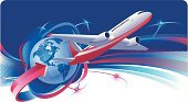 Commercial Airplane,Travel,Globe - Man Made Object,Transportation,Planet - Space,Flying,Sphere,Air Vehicle,Earth,Business,Journey,Speed,Cruise,Business Travel,Traffic,Thoroughfare,Vacations,Motion,Vector,Mode of Transport,USA,Map,Transportation,Travel Locations,Business,The Americas