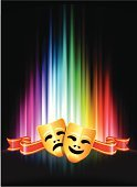 Theatrical Performance,Stage Theater,Musical Theater,Mask,Comedy Mask,Performance,Tragedy Mask,Human Face,Rainbow,Sadness,Vitality,Sunbeam,Performing Arts Event,Theater Mask,Backgrounds,Depression - Sadness,Happiness,Cheerful,Laughing,Gold Colored,Pink Color,Crying,Green Color,Spectrum,Symbol,Bright,Vector,Abstract,Ribbon,Joy,Shiny,Red,Vibrant Color,Facial Expression,Purple,Design,Smiling,Yellow,Blue,Frowning,Concepts And Ideas,Glowing,Orange Color,Disguise,Illustrations And Vector Art,Vector Icons,Multi Colored,Ilustration,Brightly Lit