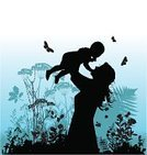 Mother,Child,Silhouette,Butterfly - Insect,Women,Family,Daughter,Nature,Love,Clip Art,Flower,Joy,Happiness,Carrying,Cheerful,Landscape,Vector,Computer Graphic,Ilustration,People,Attitude,Meadow,Sky,Wife,Excitement,Families,Elementary Age,People,Togetherness,Scenics,Illustrations And Vector Art,Lifestyle
