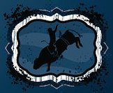 Rodeo,Cowboy,Bull - Animal,Wild West,Silhouette,Bull Riding,Grunge,Livestock,Blue,Ornate,Sport,Competitive Sport,Black Color,Splattered,Vector,Animal Sport