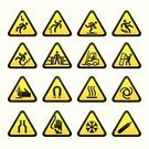 Danger,Warning Sign,Sign,Warning Symbol,Symbol,Slippery,Falling,Accident,Computer Icon,Crushed,Staircase,Electricity,Heat - Temperature,Security,Truck,Oxygen Tank,High Voltage Sign,Cold - Termperature,Narrow,At Attention,Triangle,Forbidden,Defeat,Wound,Button,Illustrations And Vector Art,Temptation,Compressed Gas,Set,Technology Symbols/Metaphors,Magnetic Field,Information Symbol,Interface Icons,Hand Injury,Technology,Vector Icons,Sinking