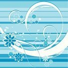 Striped,Curly Howard,Flower,Decor,Floral Pattern,Ornate,Scroll Shape,Backgrounds,Blue,Vector,Design Element,No People,Computer Graphic,Frame,Design,Decoration,Style,Digital Composite,Swirl,Ilustration,Abstract