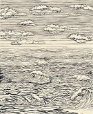 Sea,Cloud - Sky,Wave,Cloudscape,Drawing - Art Product,Sketch,Old,Retro Revival,Old-fashioned,Wind,Textured Effect,Drinking Water,Landscape,Sky,Pencil Drawing,Ilustration,Vector,Air,Outdoors,Nature,Arts And Entertainment,Nature,Arts Backgrounds,Meteorology,Single Object,Fluffy,Illustrations And Vector Art