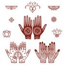 Henna Tattoo,Wedding,Indian Culture,Lotus Water Lily,Human Hand,Ganesha,Om Symbol,Pattern,Design,Vector,Collection,Lovebird,Bird,Frame,Swan,Ilustration,Design Element,Decoration,Floral Pattern,Bud,Arrangement,Brown,Elegance,Loving,Pen And Ink,Vector Ornaments,Passerine,Illustrations And Vector Art,Body Adornment