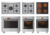 Stove,Oven,Domestic Kitchen,Burner - Stove Top,Appliance,Vector,Computer Icon,Electricity,Ilustration,Natural Gas,Flame,Isolated,Set,Group of Objects,Domestic Life,Heat - Temperature,Equipment,Steel,Burning,Metal Grate,Vector Icons,Technology,Household Objects/Equipment,Silver Colored,Electronics,Ceramic Hob,Gray,Objects/Equipment,Illustrations And Vector Art