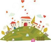 House,Town,City,Cartoon,Heart Shape,Ilustration,Flower,Environment,Hill,Happiness,Vector,Built Structure,Door,Love,Tree,Urban Skyline,Comfortable,Building Exterior,Cloud - Sky,Fantasy,Cityscape,Nature,Isolated,Creativity,Window,Posing,Railing,Positive Emotion,Facade,Design Element,Day,Worm,Cut Out,Harmony,Vibrant Color,Homes,Relationships,Lifestyle,Concepts And Ideas,Architecture And Buildings