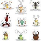 Cricket,Insect,Cartoon,Spider,Antlion,Humor,Vector,Fly,Caterpillar,Beetle,Animal,Wing,Ilustration,Set,Insects,Vector Cartoons,Illustrations And Vector Art,Larva,Insignia,Jumping Spider,Animals And Pets