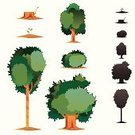 Bush,Tree Stump,Tree,Symbol,Silhouette,Vector,Back Lit,Growth,Plant,Green Color,Pollution,Environmental Conservation,Vector Icons,Gardens,Plants,Nature,Illustrations And Vector Art