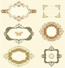 Decoration,Banner,Frame,Ornate,Butterfly - Insect,Scroll Shape,Set,Label,Vignette,Swirl,Shape,Collection,Design,Series,No People