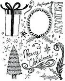 Christmas,Doodle,Sketch,Frame,Black Color,Typescript,White,Ilustration,Holiday,Drawing - Art Product,Gift,Text,Clip Art,Bow,Single Word,Decoration,Christmas Decoration,Star Shape,Christmas Tree,Ornate,Design Element,Snowflake,Holly,Christmas Ornament,graphic element,hand drawn,Holidays And Celebrations,Illustrations And Vector Art,hand lettered,Concepts And Ideas