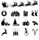 Christmas,Symbol,Computer Icon,Icon Set,Sleigh,Santa Claus,Holiday,House,Gift,Deer,Christmas Tree,Black And White,Fireplace,Decoration,Snowman,Residential Structure,Christmas Ornament,Christmas Decoration,Candy Cane,Snow,Candle,Ribbon,Celebration,Snowflake,Laurel Wreath,Holly,Bag,Reflection,Snowing,Santa's Sleigh,holiday spirit