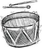 Drum,Music,Drumstick,Black Color,Musical Band,Musical Instrument,Incomplete,Music,Opera,Celebrities,Arts And Entertainment,Drawing - Art Product,Ilustration