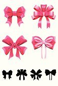 Hair Bow,Bow,Bow,Pink Color,Award Ribbon,Ribbon,Silhouette,Tied Knot,Vector,Gift,Decorating,Birthday,Parties,Vector Icons,Holidays And Celebrations,Illustrations And Vector Art,Birthdays