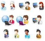People,Computer Icon,Icon Set,user,Internet,Avatar,Doctor,Occupation,Communication,Police Force,Laptop,Cartoon,White Collar Worker,Women,File Clerk,Men,Manager,Shiny,Redhead,Design Element,Vector,Vector Icons,Caucasian Ethnicity,People,Illustrations And Vector Art,Brown Hair,userpic