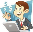 Finance,Consultant,Cartoon,Business Person,Laptop,Men,Businessman,Business,Asking,Typing,One Person,Customer Service Representative,Characters,OK Sign,Success,Ilustration,Communication,Male,Working,Occupation,Confidence,Ideas,Support,Solution,Dollar Sign,Inspiration,White Collar Worker,Human Hand,Concepts,Human Finger,Vector Cartoons,Professional Occupation,Success,Business People,Illustrations And Vector Art,Concepts And Ideas,Business