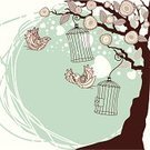 Tree,Bird,Birdcage,Freedom,Abstract,Blossom,Heart Shape,Computer Graphic,Cute,Branch,Wallpaper Pattern,Flower,Decoration,Summer,Design,Nature,Cartoon,Wing,Backgrounds,Leaf,Springtime,Romance,Ilustration,Decor,Vector,Plant,Modern,Illustrations And Vector Art,Vector Backgrounds,Vector Cartoons