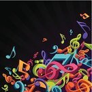 Musical Note,Music,Orchestra,Backgrounds,Multi Colored,Classical Concert,Popular Music Concert,Singing,Vector,Opera,Three-dimensional Shape,Flying,Symbol,Vector Backgrounds,Music,Arts And Entertainment,Illustrations And Vector Art