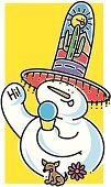 Snow Cone,Holding,Sweet Food,Snowman,Cute,Ice Cream Cone,Happiness,Friendship,Hat,Dogs,Playful,Yellow,Mountain Range,Food And Drink,Nature,Ice,Eating,Cactus,Cheerful,Sunlight,Dog,Chihuahua,Smiling,Waving,Eating,Tassel,Single Flower,Animals And Pets,Desert,Santa Fe - New Mexico,White,Winter